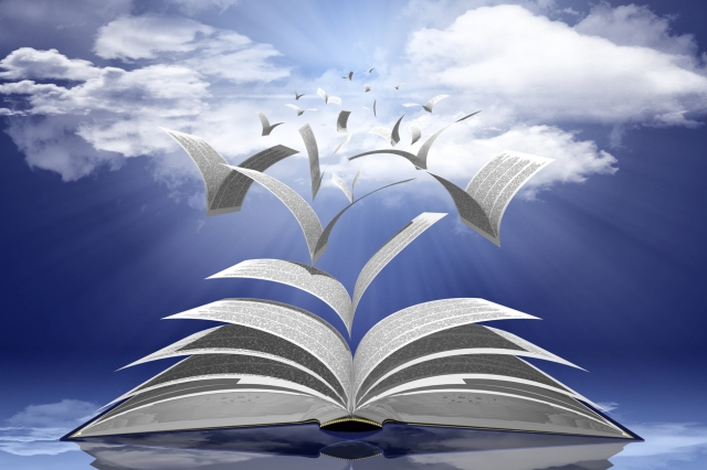heaven Book - 3D illustration