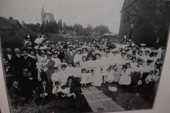 Church members celebrate groundbreaking